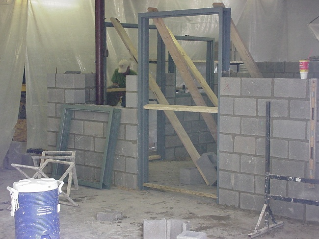 The Heavy Steel Door And Window Frames Were Installed During The  Construction Of The Walls, So They Are An Integral Part Of The Structure.