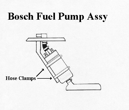 when mounting the bosch pump in-tank, the stock steel return line will need  to be reduced in length so it's terminated just above the pump, as the  overall